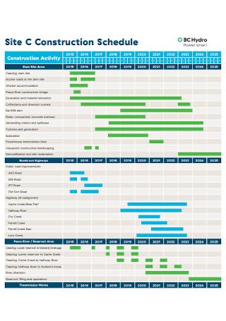 Site Construction Schedule