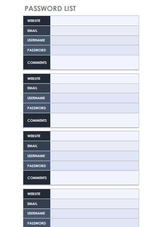 Smart Password List