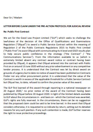 Standard Claim Letter