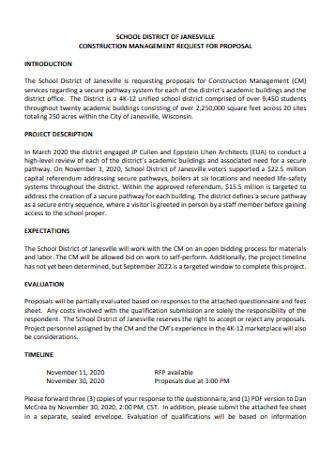 Standard Construction Proposal