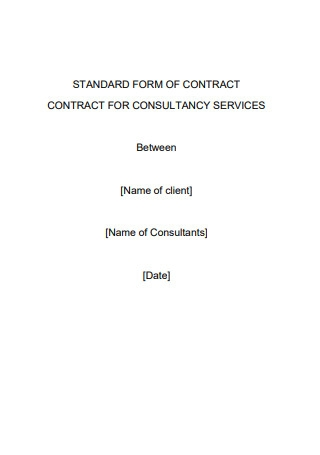 Standard Form of Contract