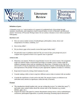 Standard Literature Review