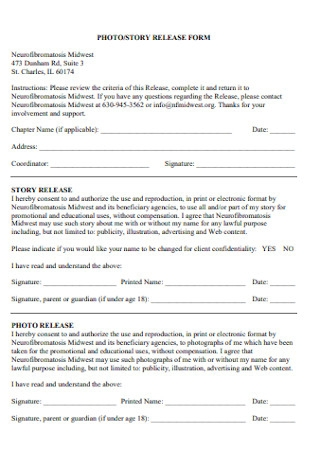 Story Release Form