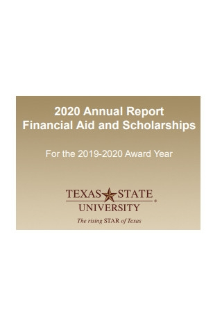 Student Aid Annual Report