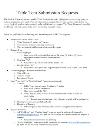 Table Tent Submission Template