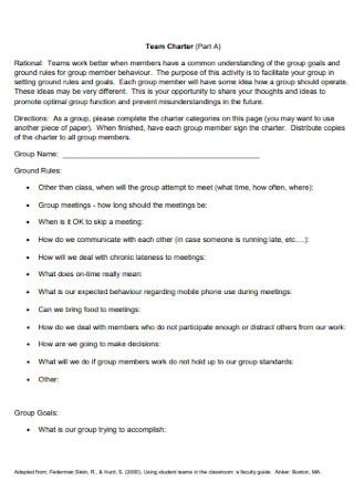 Team Work Charter