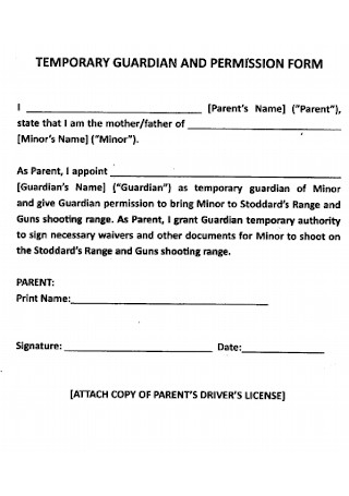Temporary Guardianship and Permission Form