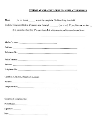 Temporary and Standby Guardianship Form