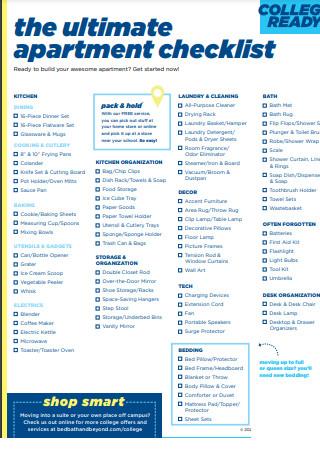 Ultimate Apartment Checklist