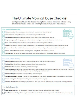 Ultimate Moving House Checklist