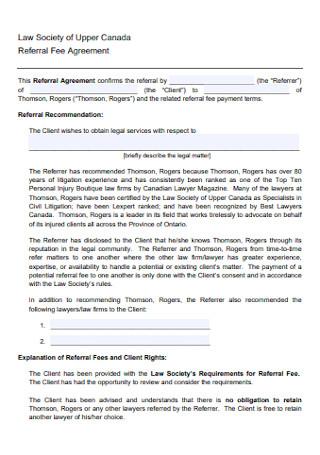 University Referral Fee Agreement