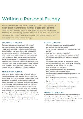 Writing a Personal Eulogy