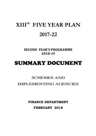 XIIIth Five Year Plan