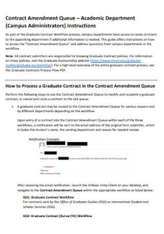 Academic Contract Amendment