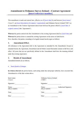 Amendment to Ordnance Survey Contract