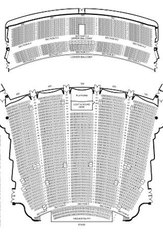 Auditorium Seating Chart Template
