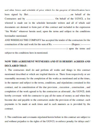 Basic Contract Agreement