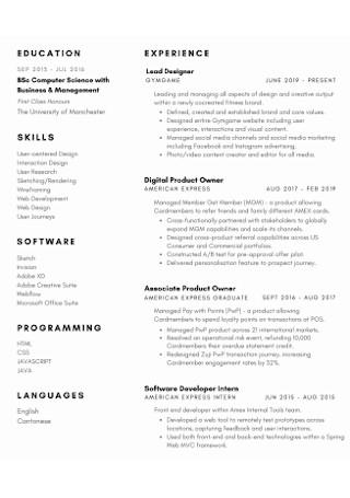 Business Customer Service Resume