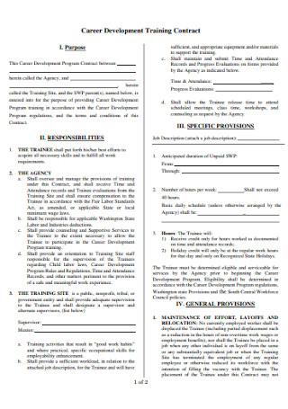 Career Development Training Contract