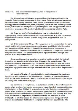 Case Reargument Brief