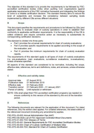 Chain of Custody Evaluation Report
