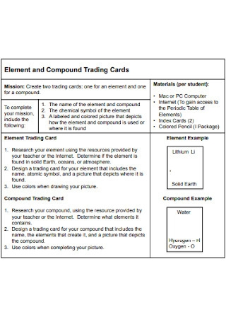 Compound Trading Cards