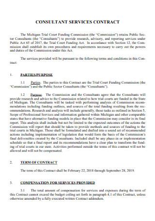 Consultant Service Contract