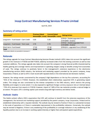 Contract Manufacturing Services Private