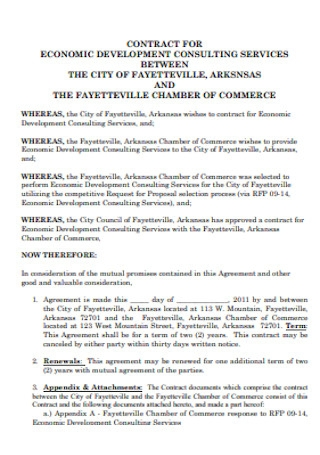 Contract for Economic Development