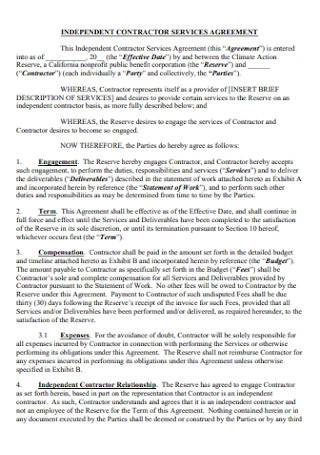 Contractor Services Agreement