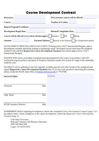 Course Development Contract