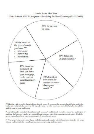 Credit Score Pie Chart