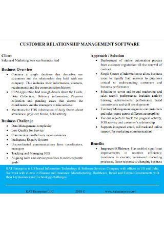 Customer Relationship Management of Software