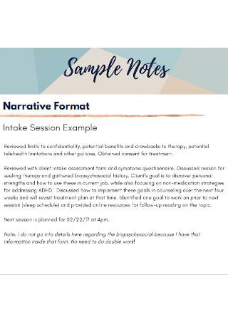 DAP Note Format