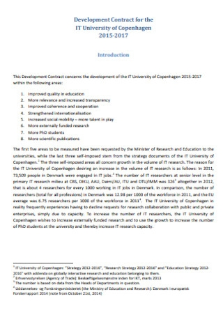 Development Contract for IT