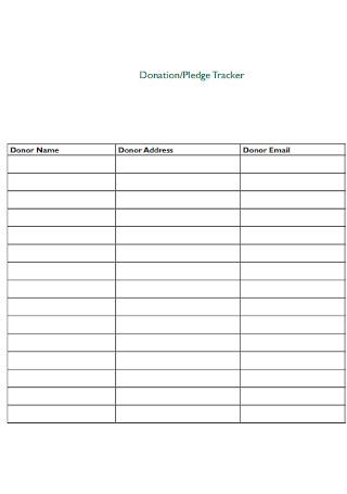 Donation and Pledge Tracker