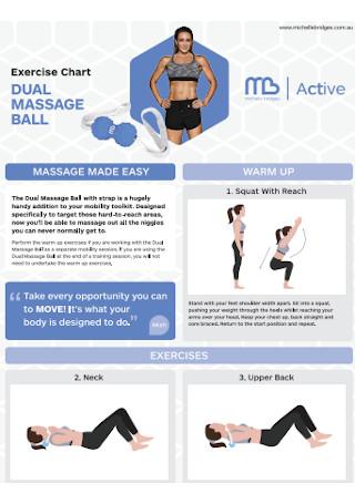 Dual Massage Exercise Chart