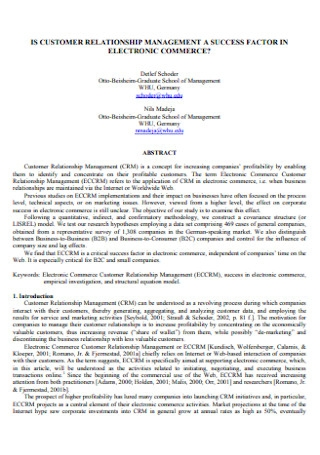 Electronic Commerce Customer Relationship Management