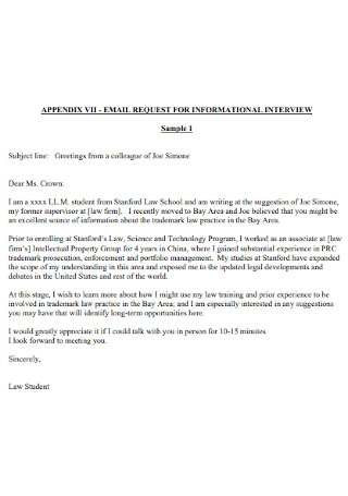 Email Request for Informational Interview