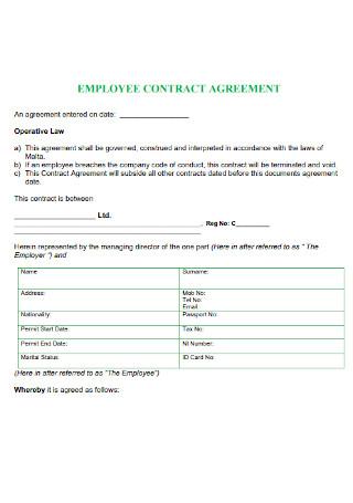 Employee Contract Agreement