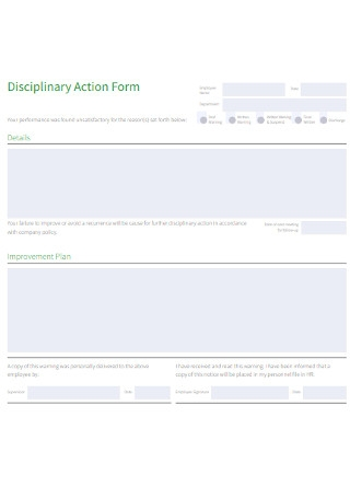 Employee Disciplinary Action Form Format