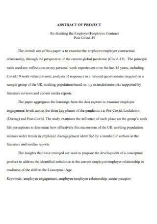 Employer and Employee Contract