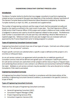 Engineering Consultant Contract