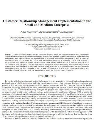 Enterprise Customer Relationship Management