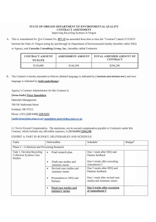 Environmental Quality Contract Amendment