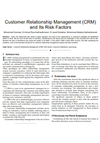 Factor and Customer Relationship Management
