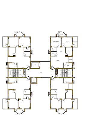 Floor Plan of st Floor with Terrace