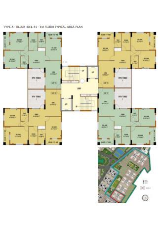 Floor Typical Area Plan