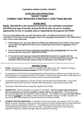 Formal Consultant Contract