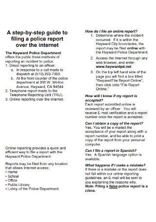 Formal Police Report